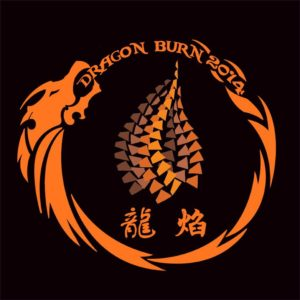 An early Dragon Burn logo